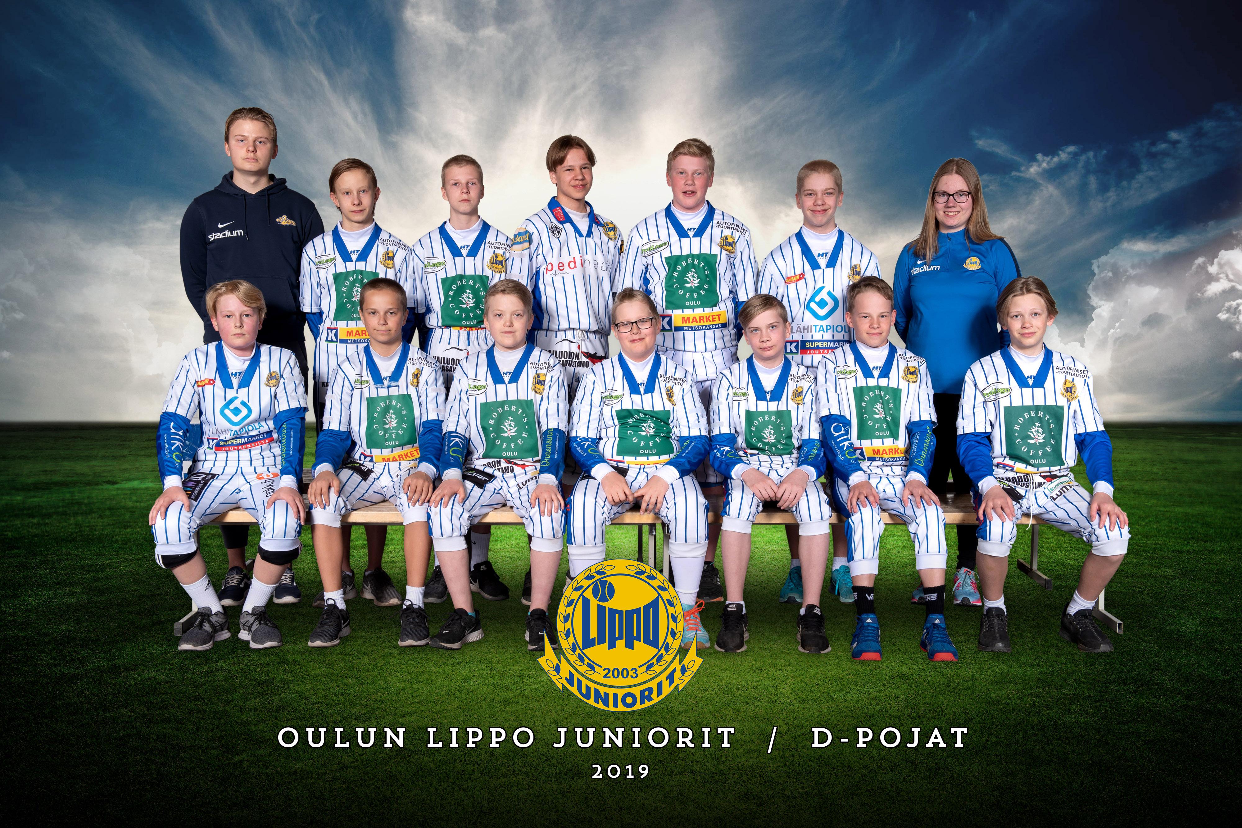 Lippo Juniorit D-pojat 2019 joukkuekuva