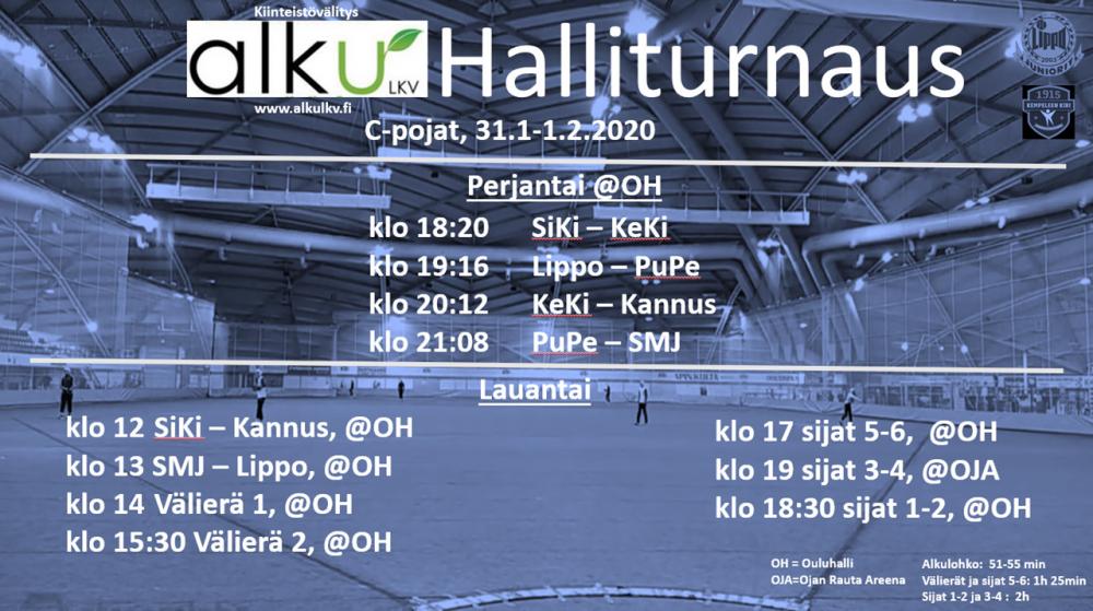 Alku LKV halliturnaus 31.1. - 1.2.2020 Ouluhallissa